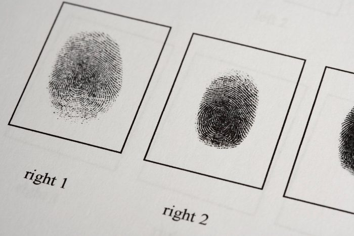 body facts   fingerprints on paper document