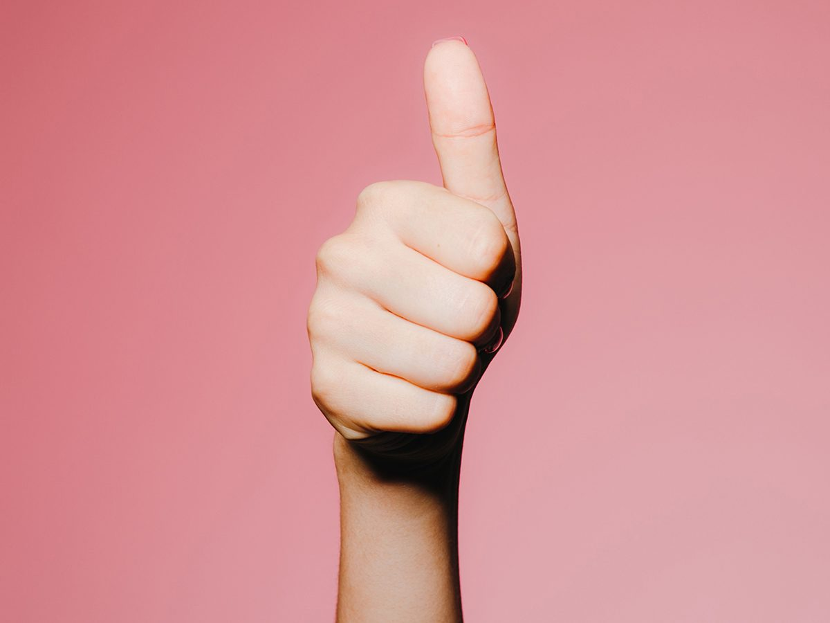 hand giving thumbs-up | hand-care