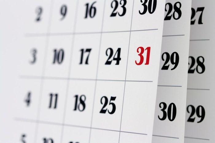 early-onset Alzheimer's | Open calendar pages, closeup