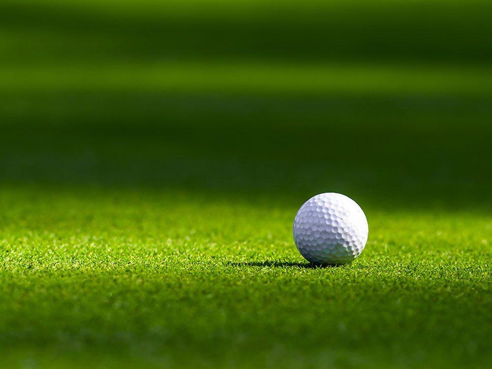 Use nail polish to mark your golf ball