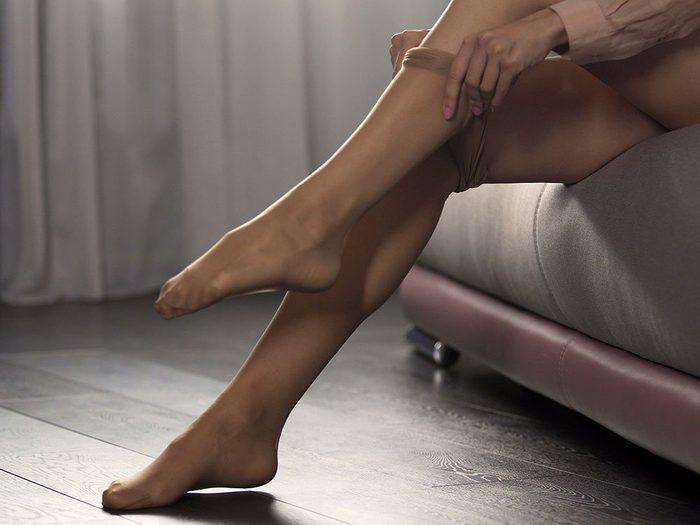 Use nail polish to stop pantyhose runs