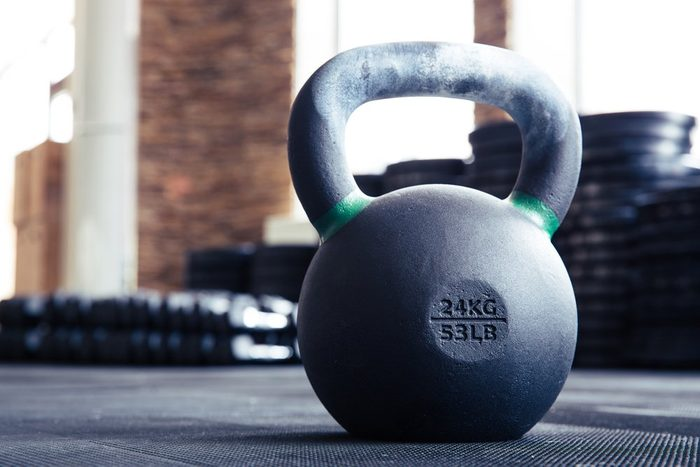 fitness after 50 | kettle ball in fitness gym