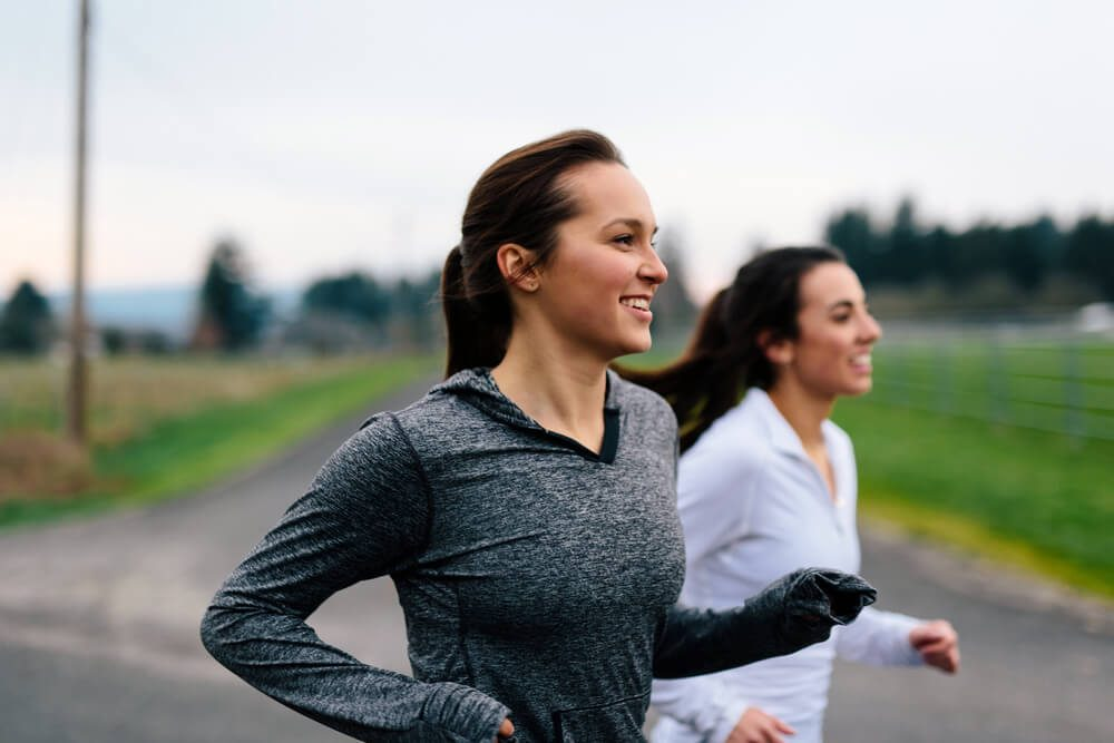 reach your goal weight | Running Women Jogging in Country