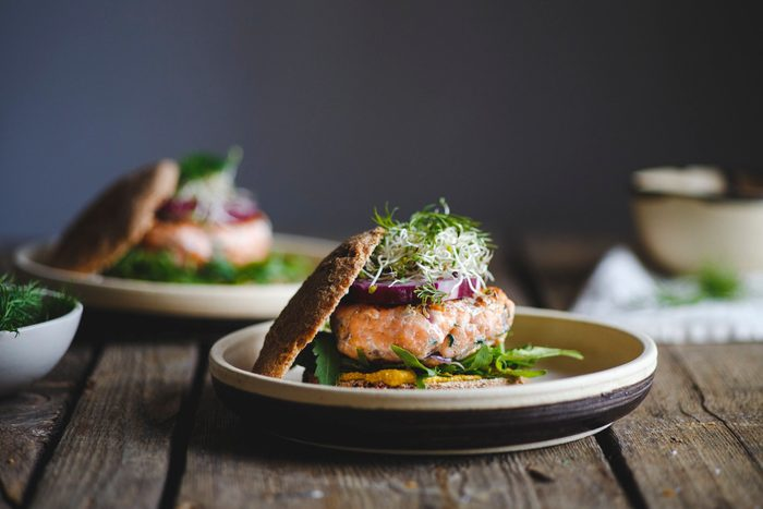 healthier grilling ideas | Salmon burgers for lunch