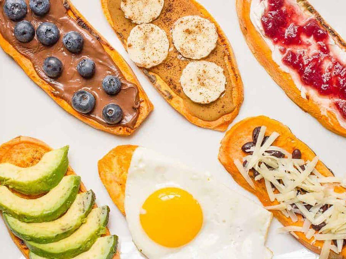 quick and easy breakfast ideas   healthy breakfast   sweet potato toast