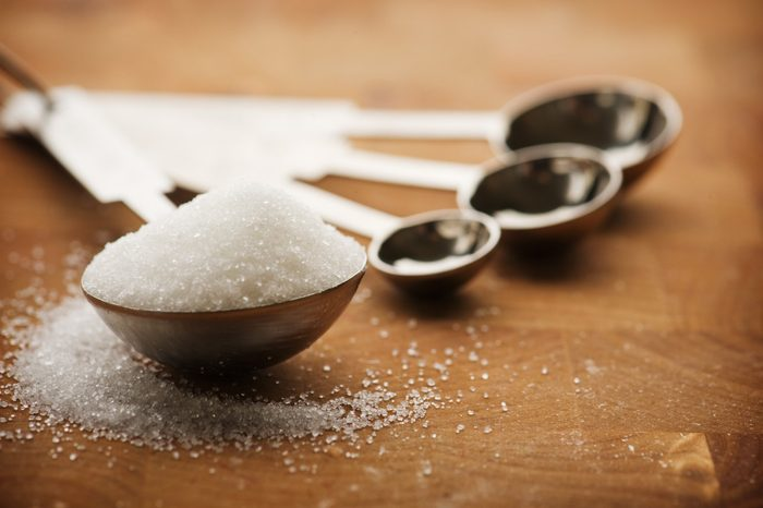 mediterranean diet   Tablespoon filled with granulated sugar