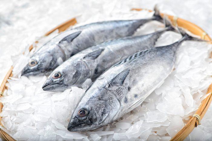 mediterranean diet   Three bonito tuna fish