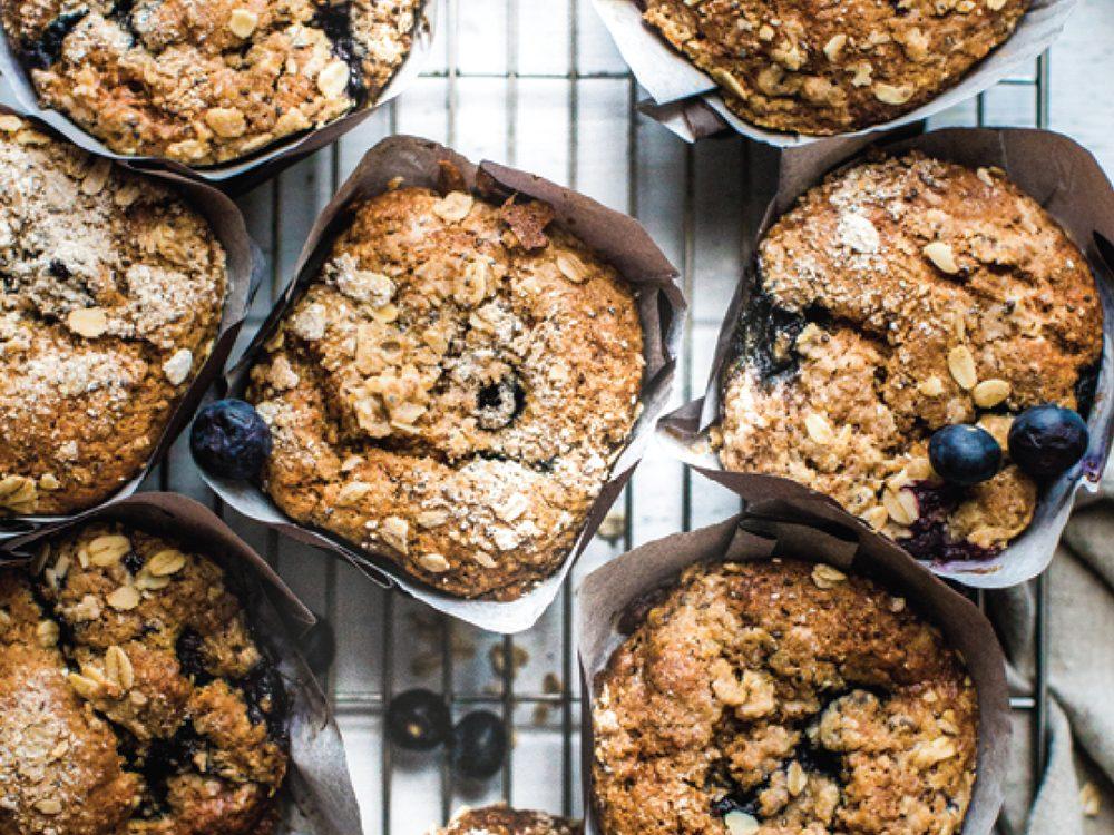 breakfast muffins   blueberry, banana, walnut