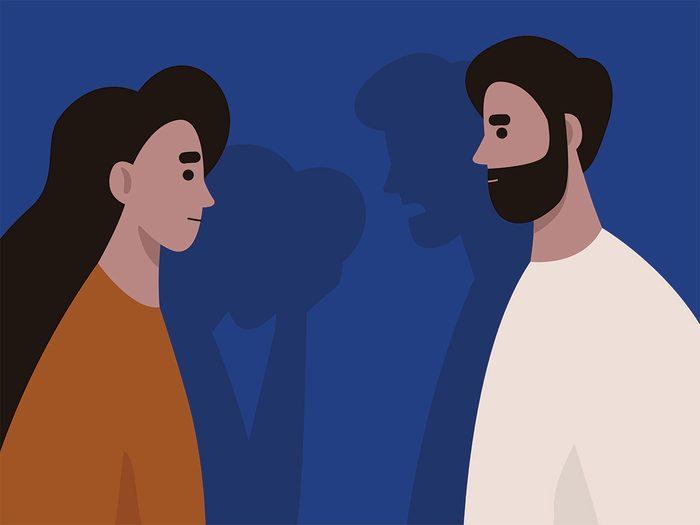 gaslighting | heterosexual couple arguing