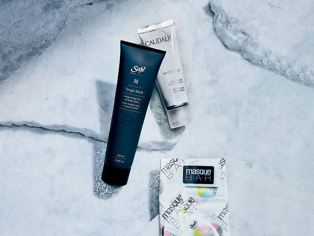 winter skincare tips | shot of three skincare products for feet and hands