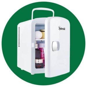 AstroAI Mini Fridge 4 Liter/6 Can AC/DC Portable Thermoelectric Cooler and Warmer for Skincare