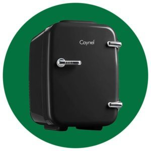CAYNEL Mini Fridge Cooler and Warmer, (4Liter / 6Can) Portable Compact Personal Fridge
