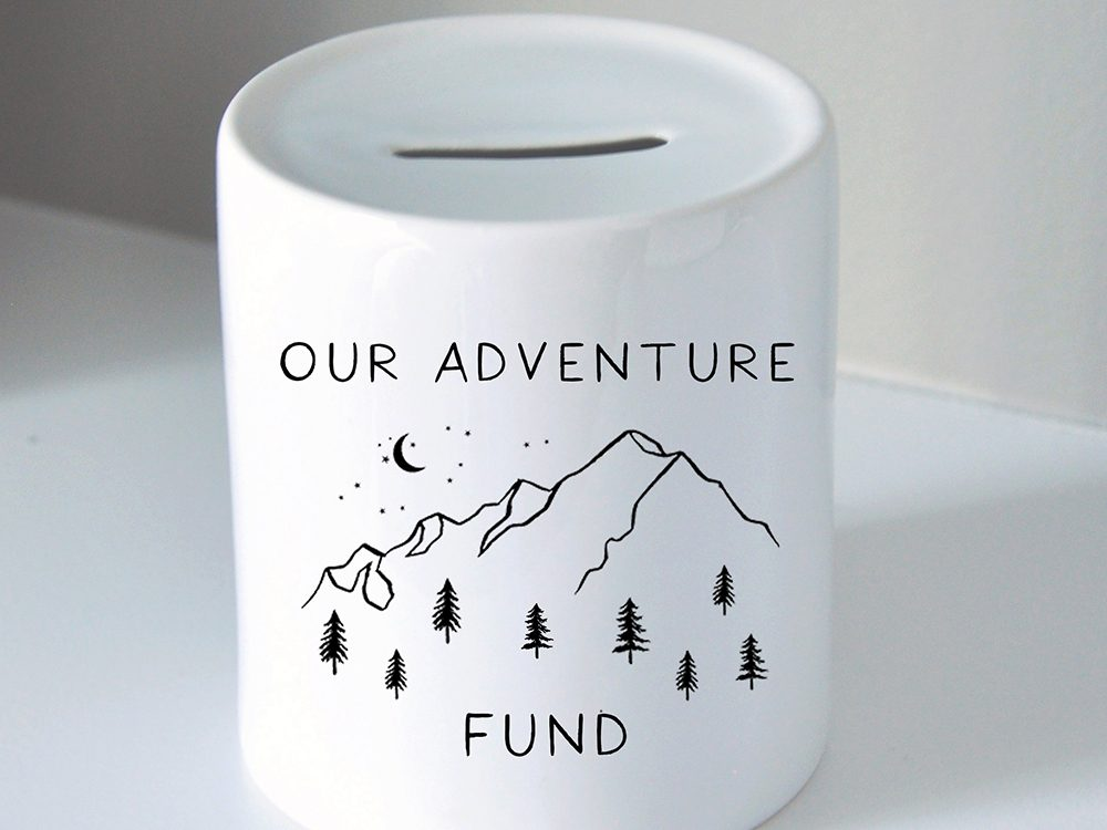 Etsy adventure piggy bank | wellness gifts | best health gift guide