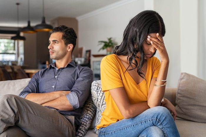 What a Narcissist Does at the End of a Relationship | Young couple having argument at home