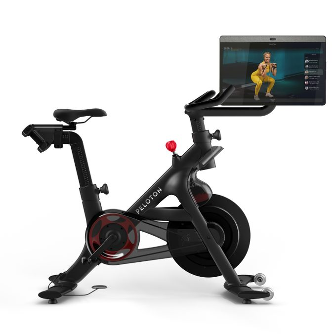 peleton bike+ review canada | image of the peleton with rotating screen