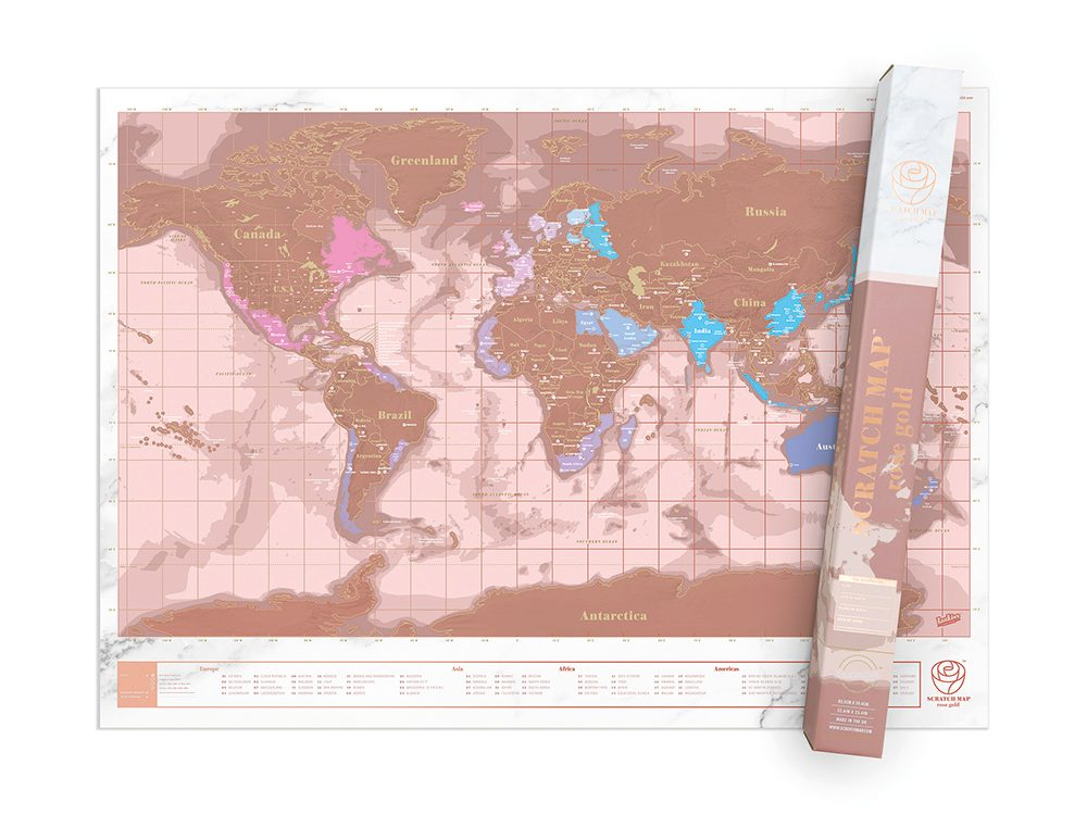 Indigo scratch map | wellness gifts | best health gift guide