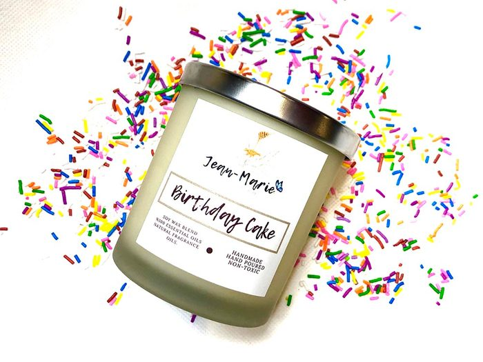 Jean-Marie Candle Co birthday candle   wellness gifts   best health gift guide
