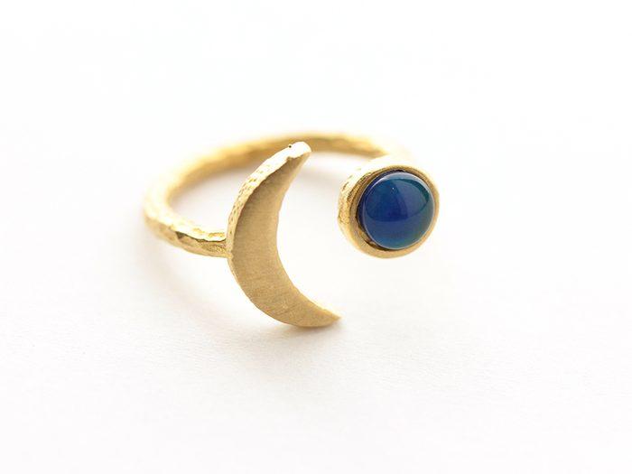 Sun Moon Brass Ring   wellness gifts   best health gift guide