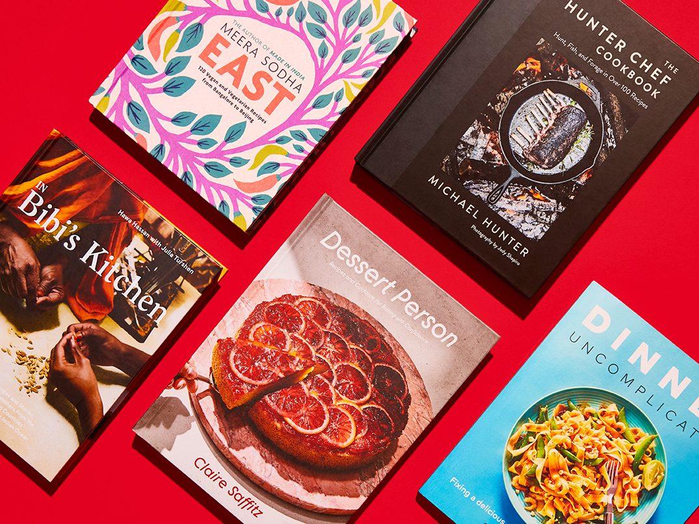 new cookbooks canada | flat lay of holiday cookbooks