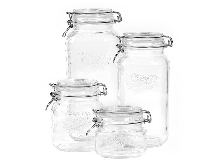 single-use plastic swap | sustainable upgrades eco-friendly home upgrades | glass jars