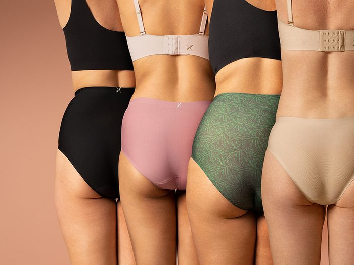 period underwear review | four women standing side by side in knix's period proof underwear