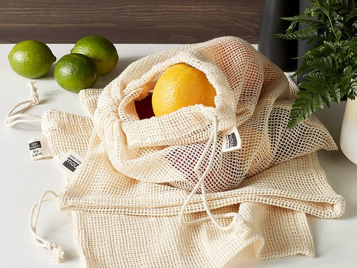 single-use plastic swap | sustainable upgrades eco-friendly home upgrades | simons produce bag