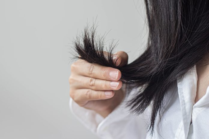 woman with dry hair | dry hair