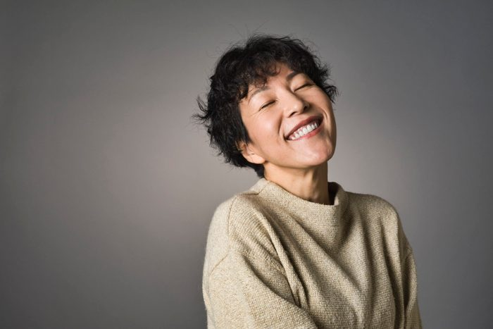 what is happiness   Studio Portrait Of Middle Aged Japanese Woman 2