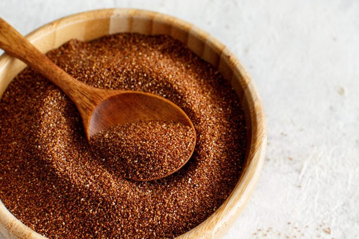 what is teff | Close Up Of Ground Coffee In Bowl On Table