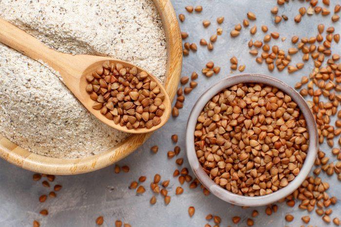 what is buckwheat | Buckwheat Flour In A Bowl And Buckwheat Grain