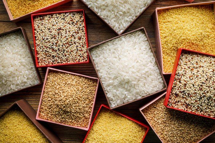 quinoa vs rice | Varieties Of Grains Seeds And Raw Quino