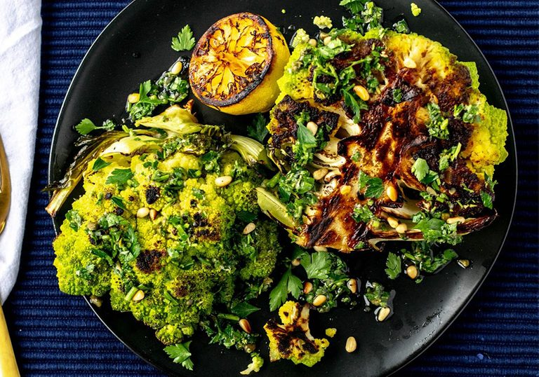 romanesco recipe | picture of Roasted Romanesco with Lemon-Caper Gremolata