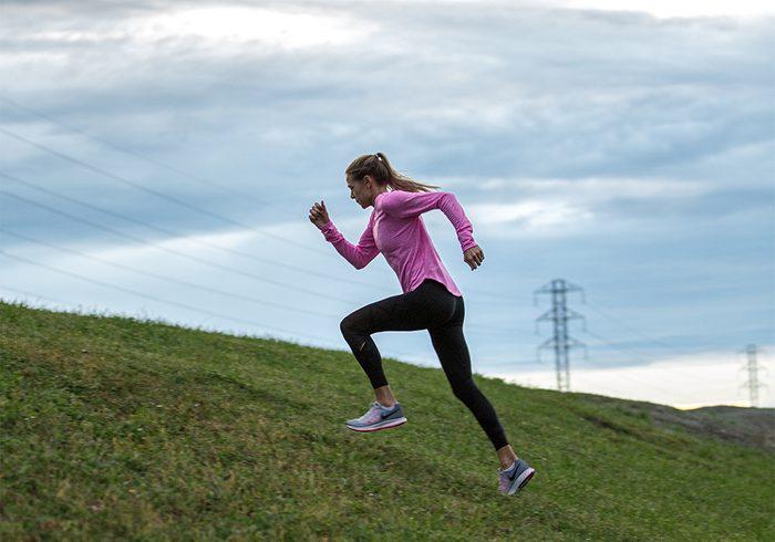 Melissa Bishop | image of olympic runner melissa bishop running up a hill