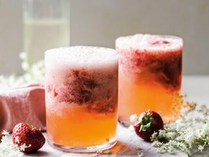 This Strawberry Elderflower Ginger Beer Float Will Remind You of Childhood