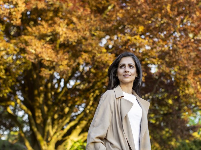 living with endometriosis | Roop Bassra Stands In Vancouver's Queen Elizabeth Park On April 26, 2021.