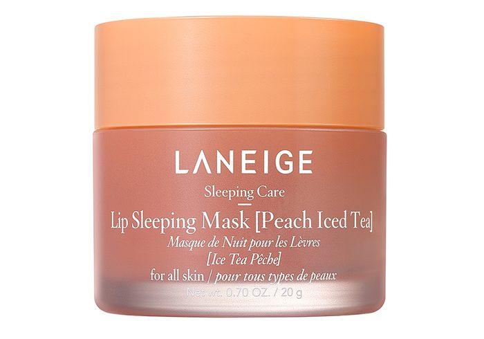 Jar Of La Neige Lip Sleeping Mask, Peach Iced Tea